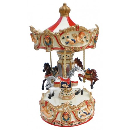 Large carousel angel red