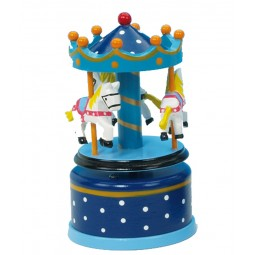 Wooden carousel blue 130 mm
