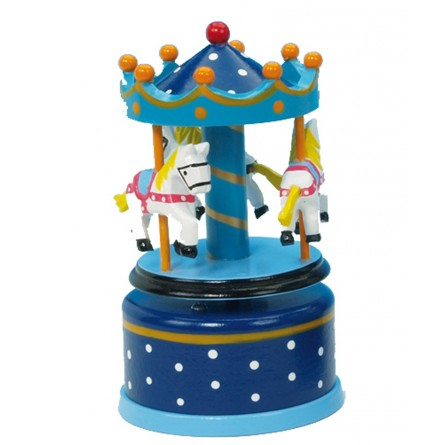 Wooden carousel blue 130 mm
