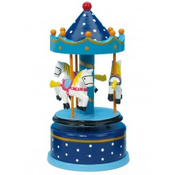 Wooden carousel blue 170 mm