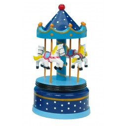 Wooden carousel blue 210 mm