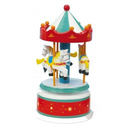 Wooden carousel red/white, 170 mm