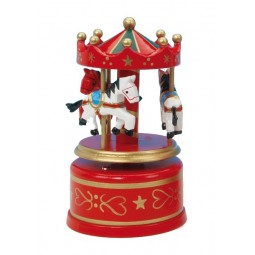 Wooden carousel red/green, 130 mm