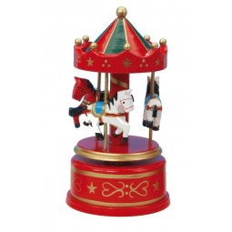 Wooden carousel red/green, 170 mm