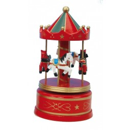 Red & green wooden carousel