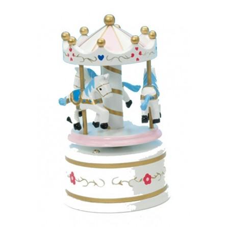 Wooden carousel white 130 mm