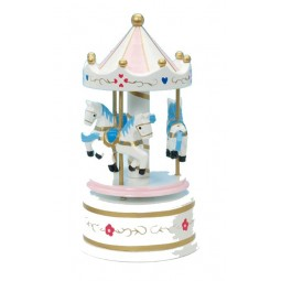 Wooden carousel white 170 mm