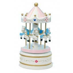 Wooden carousel white, 210 mm