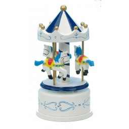 Wooden carousel blue / white 170 mm