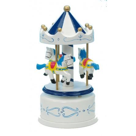 Wooden carousel blue / white 170 mm