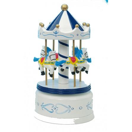 Wooden carousel blue / white 210 mm