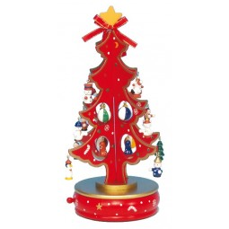 Christmas tree, red, 280 mm