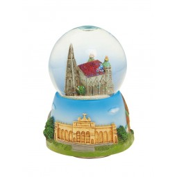 "Snow globe ""Cathedral of Vienna"" with a nicely painted base"