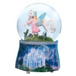 Unicorn glitter globe