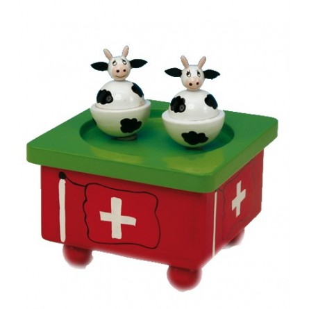 Dancing Swiss cows