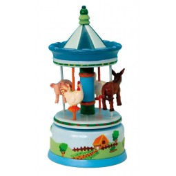 Blue farm carousel