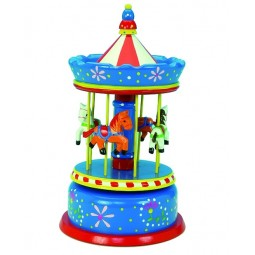 Large blue carousel