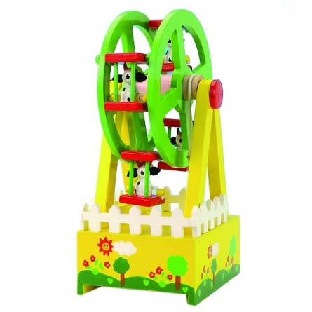 Ferris wheel with cows