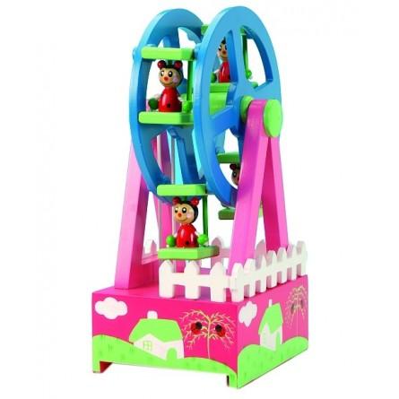 Ferris wheel with ladybirds