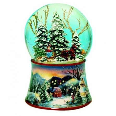 Snow globe slide