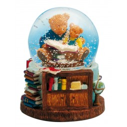 Reading bears snow globe