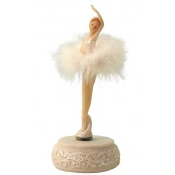 "Ballerina in a dress turns to the melody ""Blue Danube"". Height 230 mm."