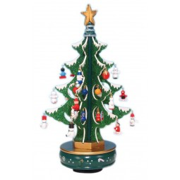 6 Green tree with glitter 320 mm