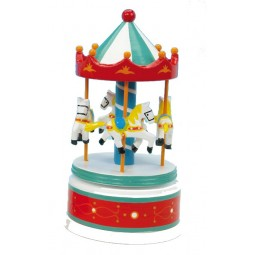 Wooden carousel red/white, 210 mm