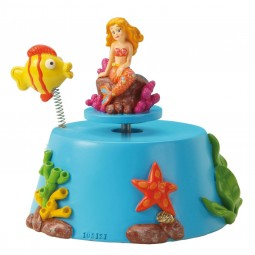 Mermaid with clown fish