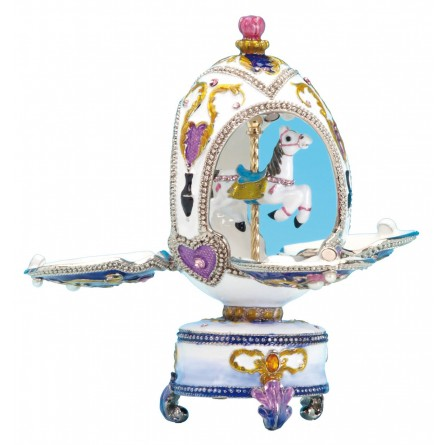 Jewelry egg carousel horse