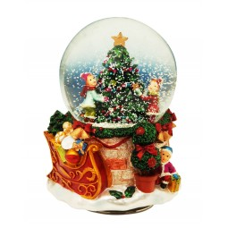 Snow globe tree 80 mm