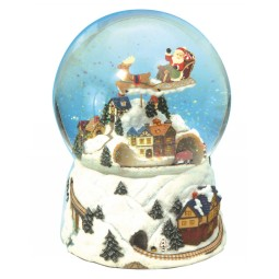 "Snow globe ""Christmas train"""