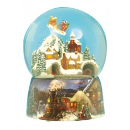Water globe Santa and train