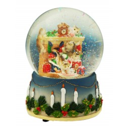 Cats Christmas globe 100 mm