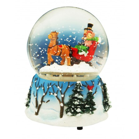 Snow globe sleigh 100 mm