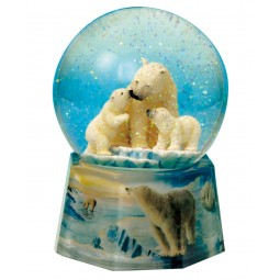 Water globe polar bear