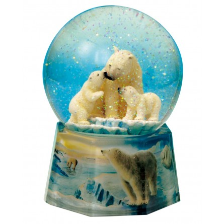 Snow globe polar bears