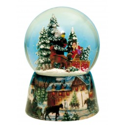 Snow globe carriage