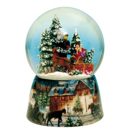 Snow globe carriage