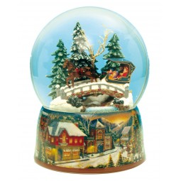 Water globe sleigh ride