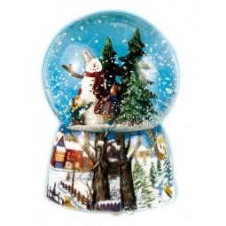 Snow globe snowman
