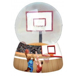 Basketball glitter globe