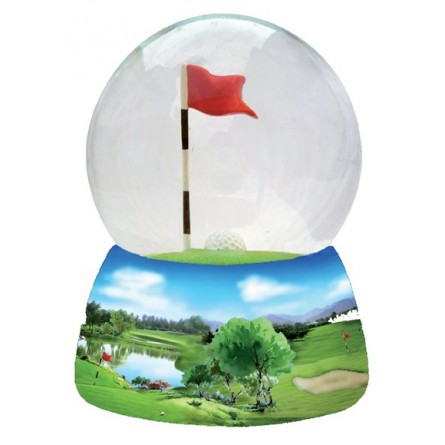 Glitter globe golf