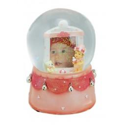 Glitter globe pink
