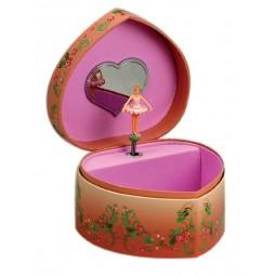 Jewelry heart pink ballerina