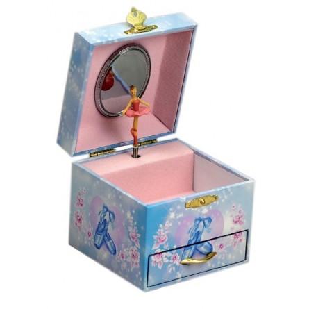 Jewelry box ballerina with drawer
