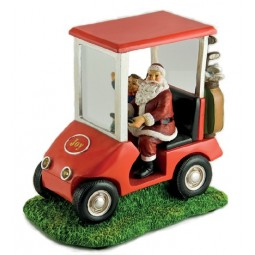 Santa on a golf cart