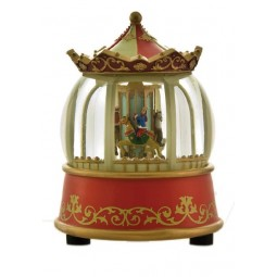 Illuminated carousel globe