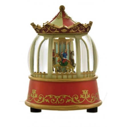 Illuminated carousel globe