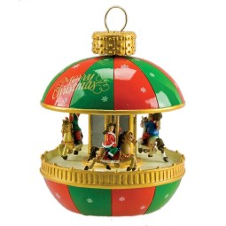 Christmas bauble carousel style